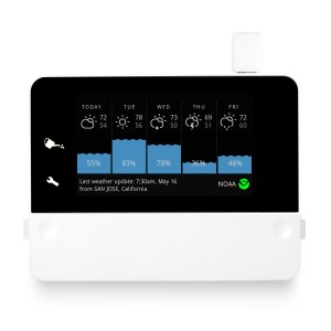 The RainMachine replaces your traditional sprinkler controller and waters based on weather forecasts.